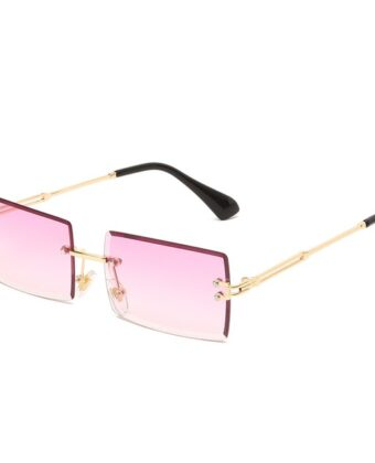 Square Rimless Sunglasses