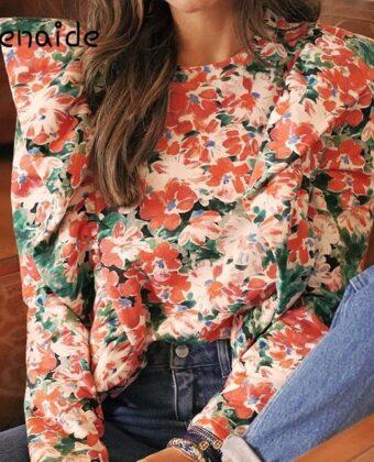 Ruffle Boho Floral Shirts